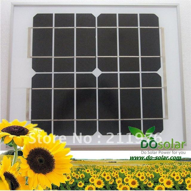 DHL Free Shipping--10W 6V high efficiency MONO Solar Panel for 3.7V battery, mobile battery charging. in stock