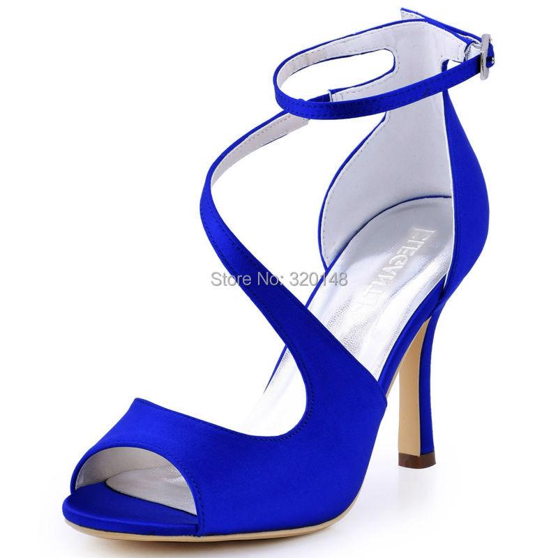 2016 Woman Summer Sandals HP1565 Burgundy Blue Peep Toe High Heels Satin Wedding Shoes Evening Dress Sandals Pumps(China (Mainland))
