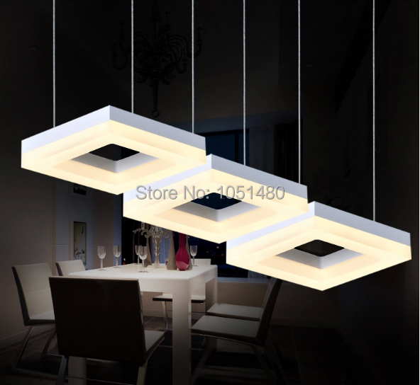 Free Shipping Flush Mount 3 Lights Modern Pendant LED Chandelier Light Fixtur