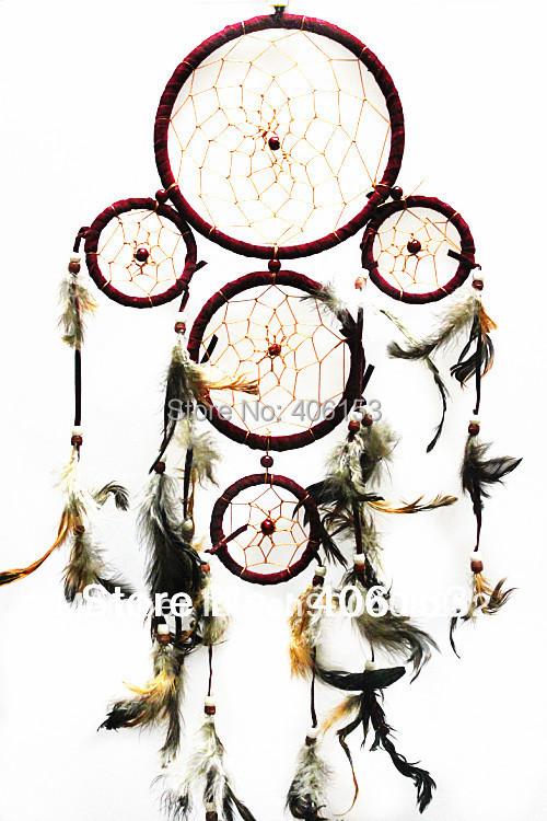 HOT!!! five circle beautiful dream catcher 3piece/lot ,black cocour , each pcs in opp bag ,Free shipping,Diameter:16cm-9cm-6cm(China (Mainland))