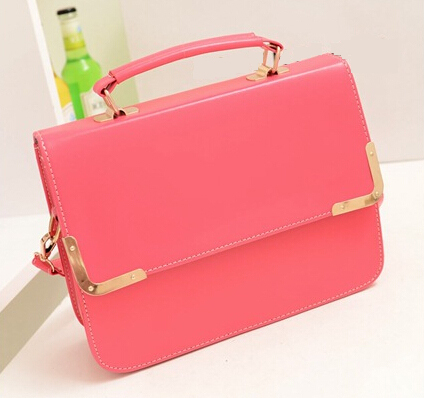 candy color Women Messenger Bags Fresh Women Leather Handbags Pretty Crossbody bags pink green black beige color bags(China (Mainland))