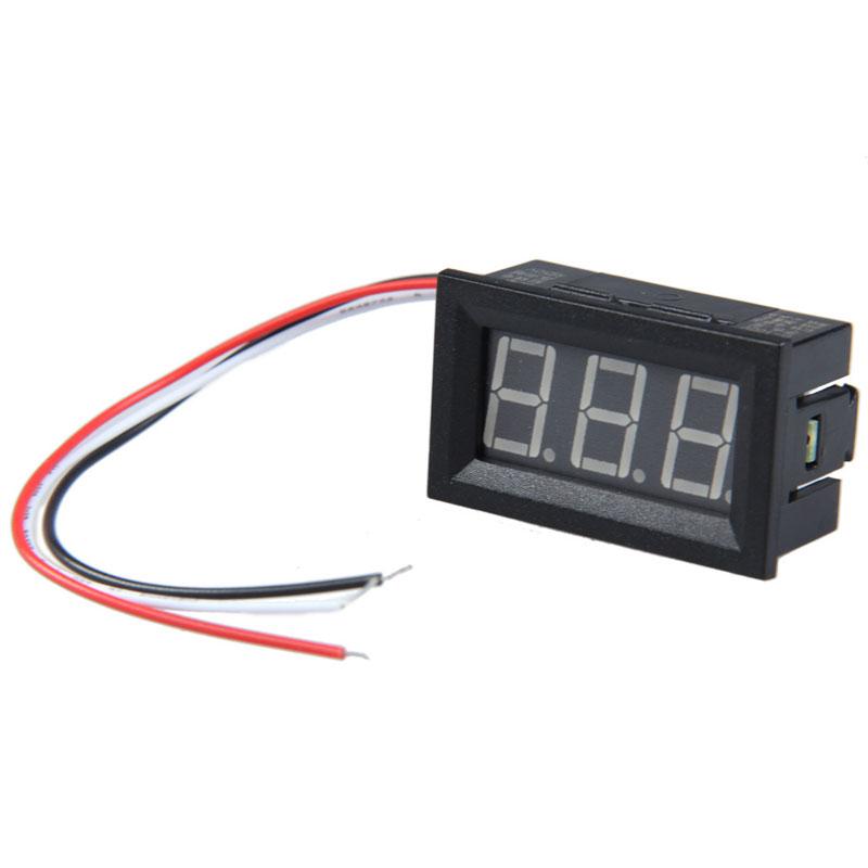 0.56 inch LCD Red Light DC 0-100V Panel Meter DC Digital Voltmeter CA1T<br><br>Aliexpress