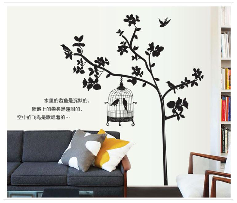 Free shipping 60 90 cm large details about black birdcage for Home decor 90 off