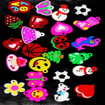 Красочные вязание ткацкий станок прелести полосы подвески мода ювелирные изделия DIY браслеты бесплатная доставка, 50 шт. смешанные дети подарок