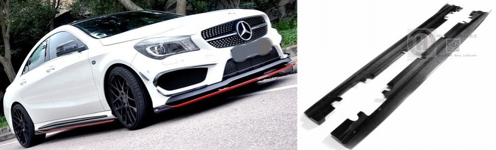 Benz W117 CLA180CLA200CLA250CLA260 CLA45 Revo style carbon side skirts trim - Highlight Auto store