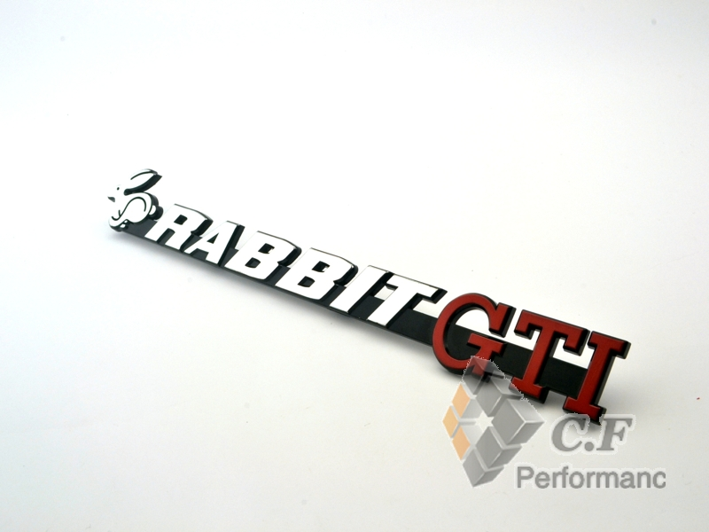 1PC VW RABBIT GTI Sticker Silver Red Emblem Auto Front Grille Grill Badge Emblem For Scirocco TDI TSI GT 143(China (Mainland))