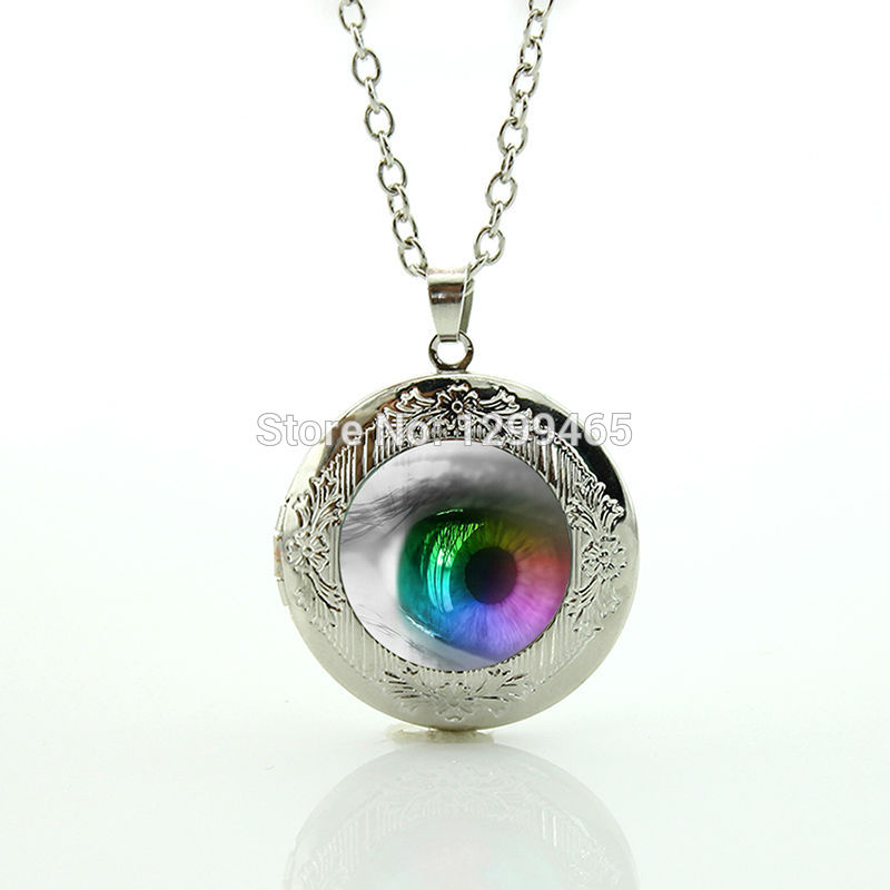 Eyeball jewelry purple evil eye locket pendant frost dragon eye pendant leisure series essential Souvenirs creative gift N 853(China (Mainland))