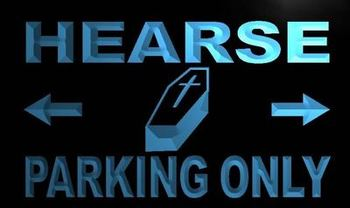 ADV PRO m360-b Hearse Parking Only Neon Light Sign