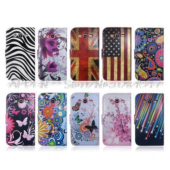 Samsung Galaxy Grand Neo 9060 Variety Pattern Wallet Flip Stand Leather Case Cover - Aiden Trading Co., Ltd. store