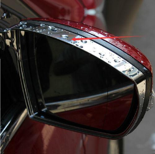 2PCS Chrome Mirror Rain Snow Guard Sun Visor vent for Ford Escape Kuga 2013 Hot(China (Mainland))