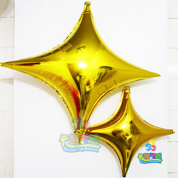large 36inch 4 point star 20pcs/lot mylar Balloons helium hydrogen for Birthday Wedding Party decoration globos party air baloes(China (Mainland))