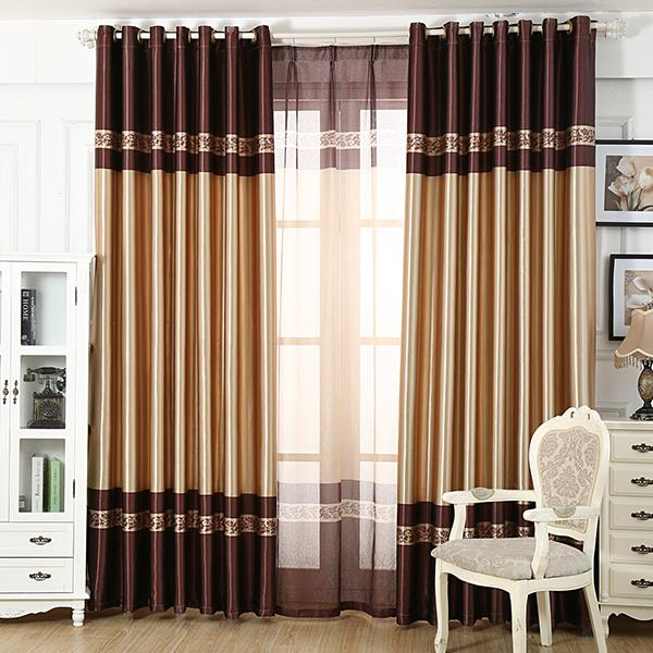 2015 Luxucy Printed Window Blackout Curtains For living Room Bedroom Finished Curtains For Window Treatment Drapes Home Decor(China (Mainland))