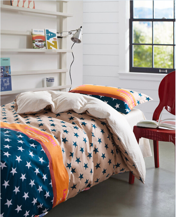 Free shipping100% cotton bedding set single duvet cover sheet pillowcase children bed linen 3pcs quilt cover(China (Mainland))