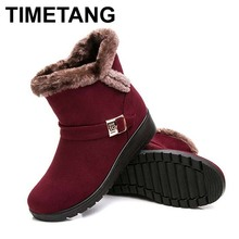 Buy Women Boots 2016 Fashion Warm Snow Boots Ankle Winter Boots Women Shoes Black Red Plus Size 41 co., LTD) for $15.98 in AliExpress store