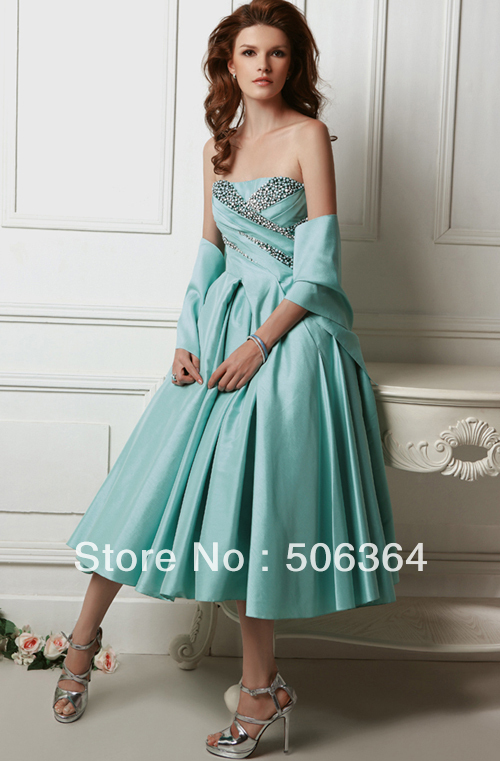 Christmas Green Chiffon Evening Dresses Party Prom Pageant Custom Made 2-10-20 E105239 - Zhangchen's shop store