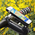 180 Degree Aluminum Alloy Bicycle Handlebar Clip Stand Mount Bracket Mountain Bike Holder for iPhone 7Plus