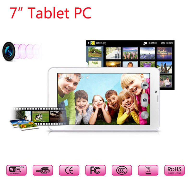 DHL 7 inch Android Tablet PC 1024*600 Dual Core Sim Cam Phablet 2G/3G GSM/WCDMA Wifi FM GPS Bluetooth