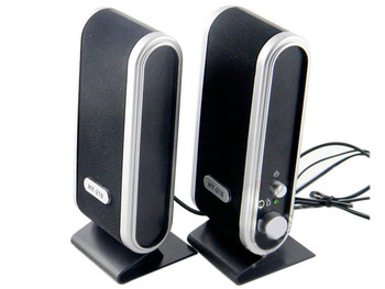 USB Power Laptop Computer Speakers With 3.5mm Microphone Headphone Audio Jack