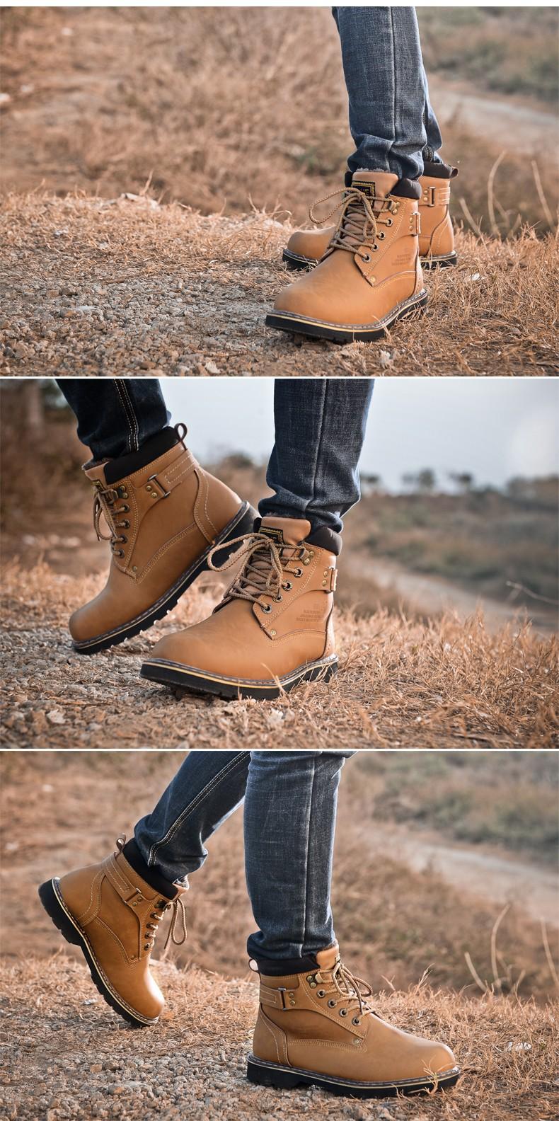 2014 Hot Sale Men'S Winter Snow Boots Martin Boots Plus Velvet