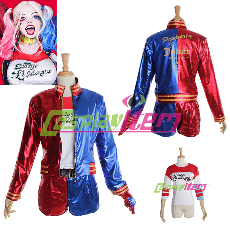 Customized Batman Suicide Squad Harley Quinn Cosplay Jacket Costume  Adult Women's Halloween Cosplay Costume
