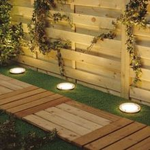 Waterproof Solar LED Sunken Garden/Path Lights with Day/Night Sensor