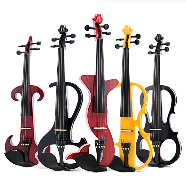Handmade white electric violin with power lines Electro-acoustic 4/4 violino, professional musical instruments,case,bow,rosin(China (Mainland))