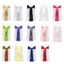 NewBowknot Satin Ribbon for Decorating Back of Chairs on Wedding Celebration #2014(China (Mainland))