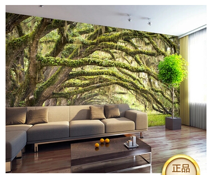 Image gallery nature wallpaper room for Nature wallpaper designs for living room