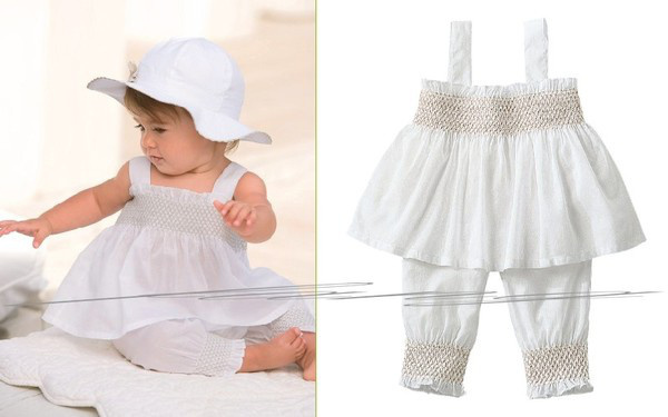White baby suit: lovely hat + suspender skirt + pants/ 3 pieces set: hat + dress + pants/ 2013 new design