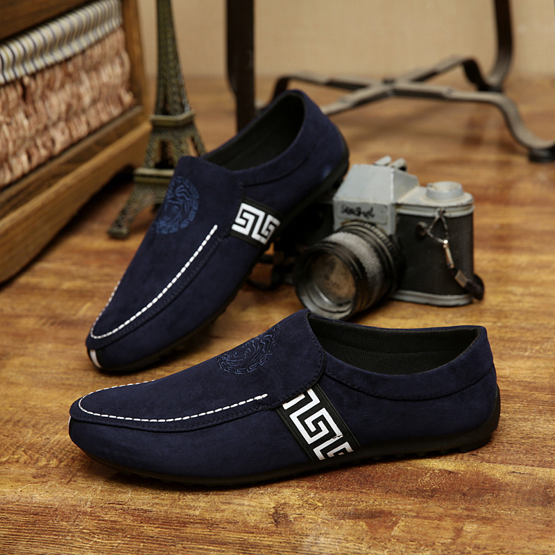 2015 Spring and summer men Moccasins male casual shoes leather male lazy fashion breathable cotton-made shoes single sneakers(China (Mainland))