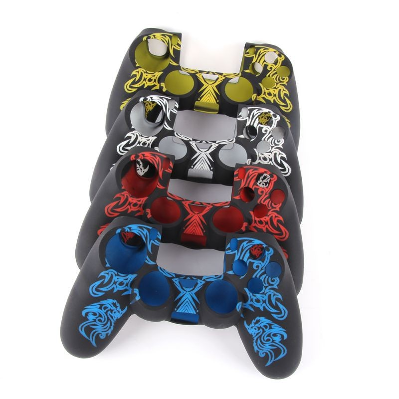 image for Fashion Silicone Rubber Gel Skin Case Cover For PlayStation 4 PS4 Cont