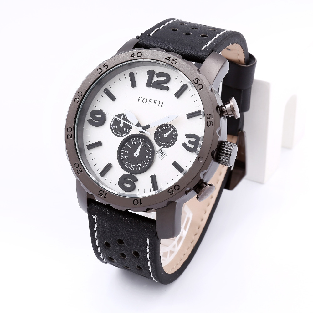 2015 unique disign quartz fossiller mens watches