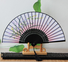 Folding Fan Gifts with Japanese Style and Ancient Sandalwood Fan Bamboo Silk Fan Home Decoration(China (Mainland))