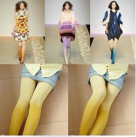 24pcs/lot good quality! promotion,Europe America hot! gradual gradient panti pantshose,lady's hosiery socks stockings girls wear