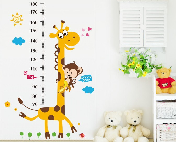 1 piece holiday sale new giraffe kids growth chart height for Growth chart for kids room