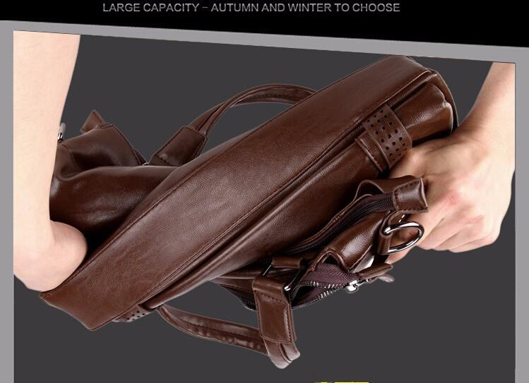 Мужчины 2016 Кожаные Сумки Деловая Сумка Бренды Качества Портфель ноутбук сумка мужская Кожаная Сумка Старинные Моды Сумка