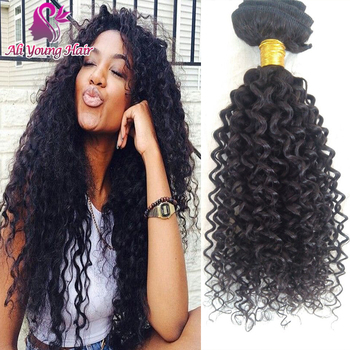 2015 Hot Selling Kinky Curly Clip In Hair Extensions Brazilian Virgin Hair Clip In Human Hair Extensions 7pcs/set Extension