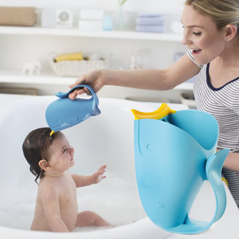 New Baby Bath Visor Bath Cups Baby Shampoo Cup Children Bathe Bathing Bailer Baby Shower Spoons Child Washing Hair Cup Kids Bebe