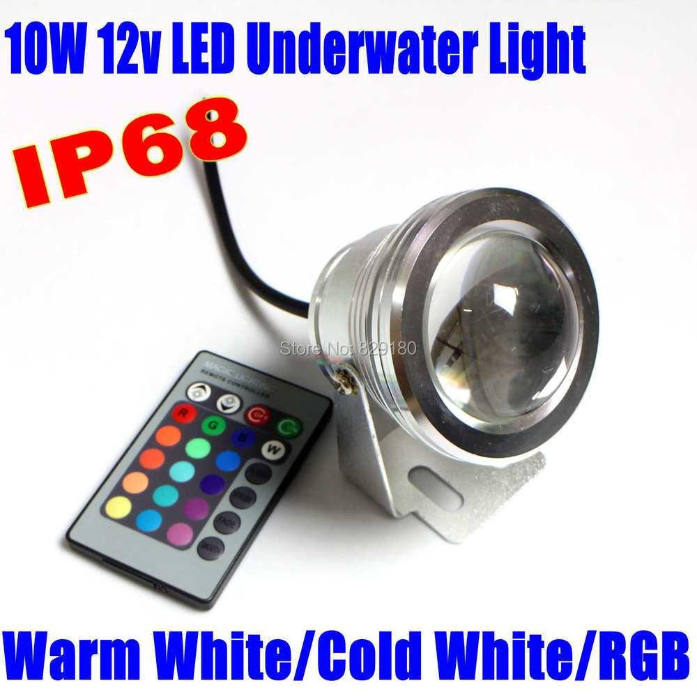 10W 12v underwater RGB Led Flood Light 1000LM Waterproof IP68 fountain pool Lamp LED Spotlight 16 color change(China (Mainland))