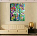 Colorful flower painting canvas modern Abstract sunflower picture hand painted oil painting home decor for living