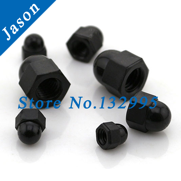 M3   DIN1587 Nylon ACORN Dome Head hex Nuts/Decorate nuts/Protection Cover Nuts/Cap Nuts  Nylon DIN1587 Black color<br><br>Aliexpress