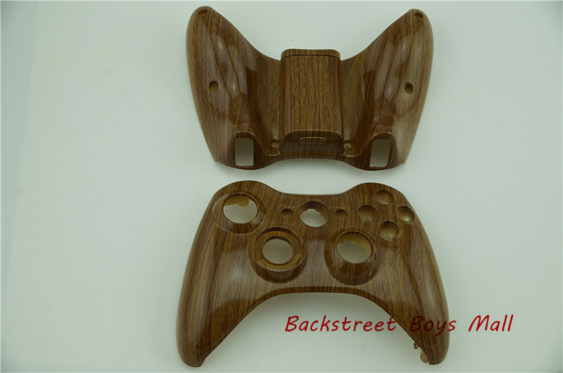 New Hydro Dipped WoodGrain Replacement Front Shell and Back shell for microsoft XBOX 360 Wireless Controller for x box 360(China (Mainland))