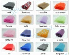 Free shipping 50PCS Organza Chair Sashes Bow Cover for Banquet/wedding/party 18 color(China (Mainland))