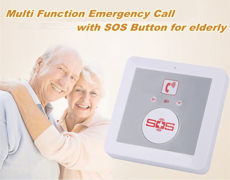 High quality Wireless emergency call button GSM serior Guardian, GSM Medical Alarm system for Elderly safety care K1(China (Mainland))