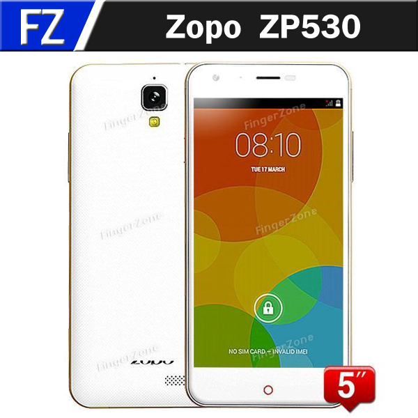 Stock Zopo ZP530 5 inch 2.5D HD IPS MTK6732 64 Bit Quad Core 4G LTE FDD Cell Phones 8MP CAM 1GB RAM 8GB ROM Smartphone Free Ship - FingerZone Technology Co., Ltd store