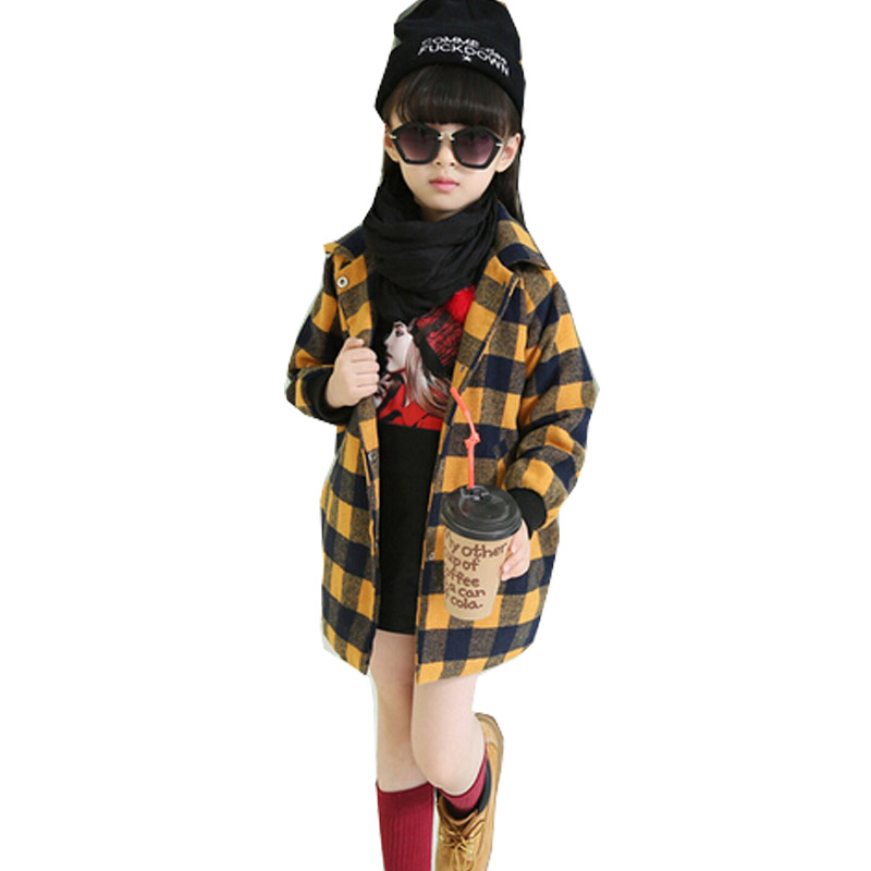 Baby Girls Coat Plaid Cartoon Children Coats Toddler Girl Outerwear Clothes Infant Jacket<br><br>Aliexpress