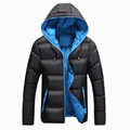2016 New Men s Winter Casual Hooded Thick Jacket Fashion Down Cotton Coats Men Thermal Parkas