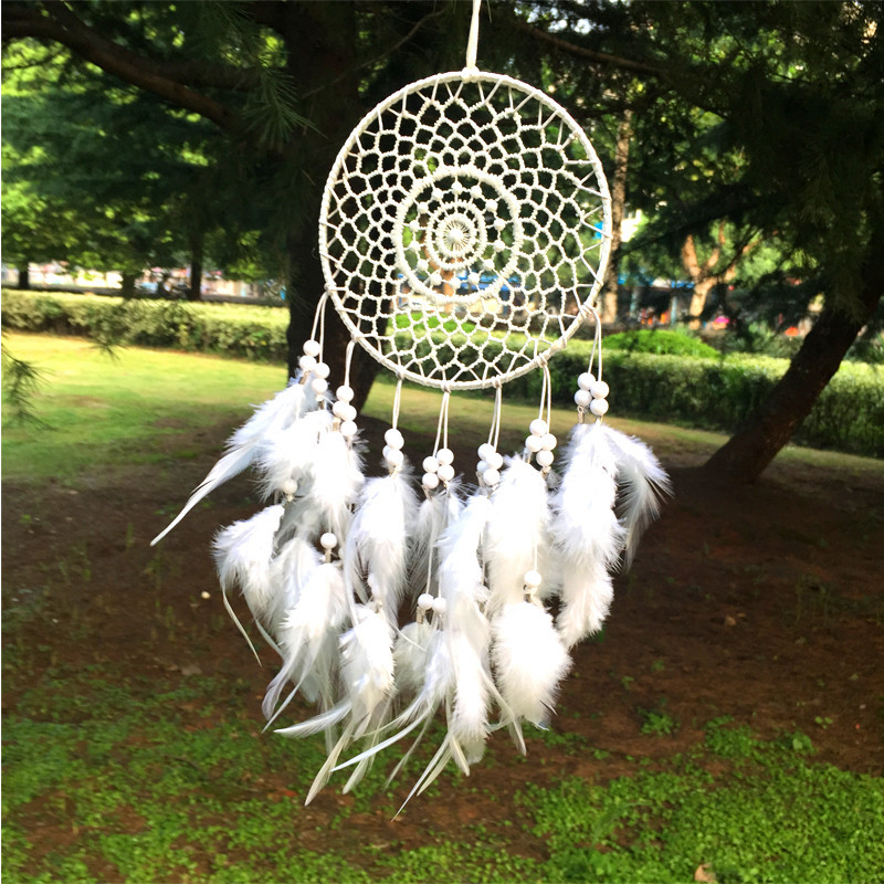 Гаджет  Dream Catcher Home Decor, white Feather Dreamcatcher Wind Chimes Indian Style Religious Mascot Car or Wall Decoration None Дом и Сад