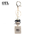 Keychain Car Luxury Crystal Rhinestones perfume bottle keychain key chain ring holder Porte Clef Gift Men