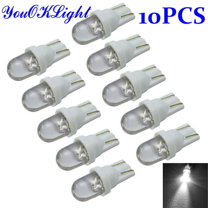 T10 0.2W White LED Bulb Car Signal Lamp (12V / 10PCS)(China (Mainland))